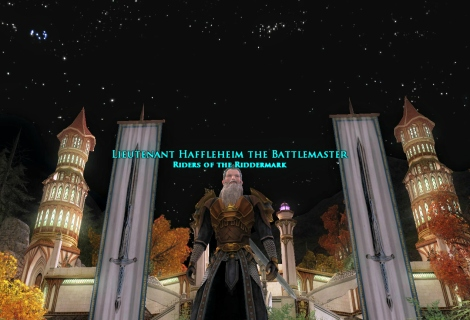 A new title has been bestowed upon you! You may now be known as Lieutenant Haffleheim, The Battlemaster!