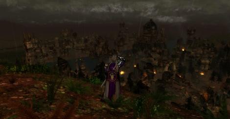 The ruined city of Osgiliath