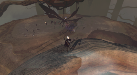 Staring down at my raid taking on Flappy in 2013. One of the fun TSW raids.
