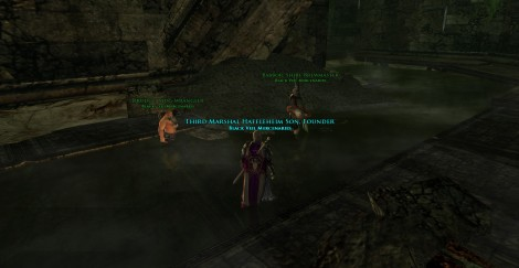 Taken sometime mid-year back on Ridder when the new instances came out for Osgiliath. There is nothing the three of us wouldn't try in game, and here in the labyrinths, is our last hurrah together.